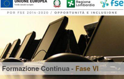 POR FSE 2014-2020: Formazione continua – Fase VI – Pubblicazione delibera linee guida